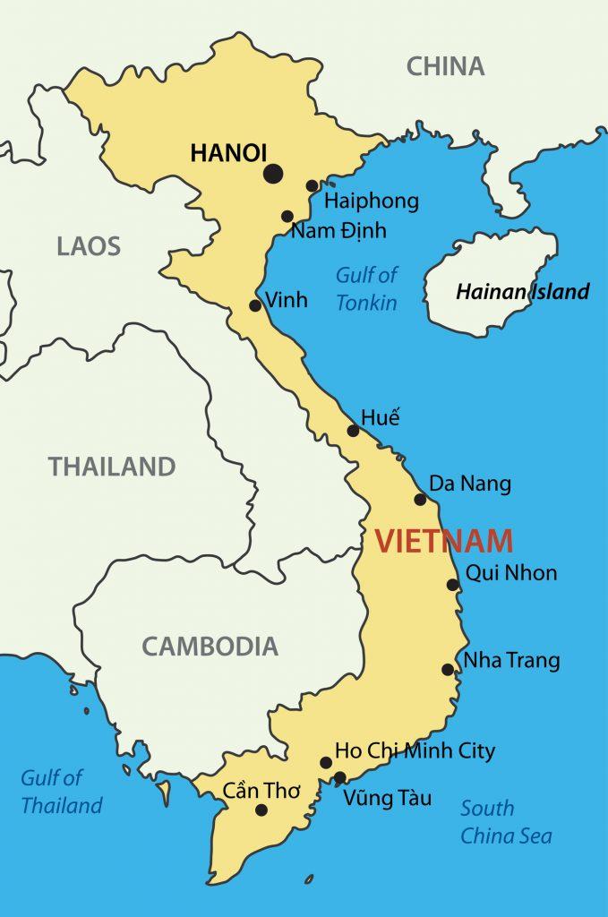 Vietnam karta